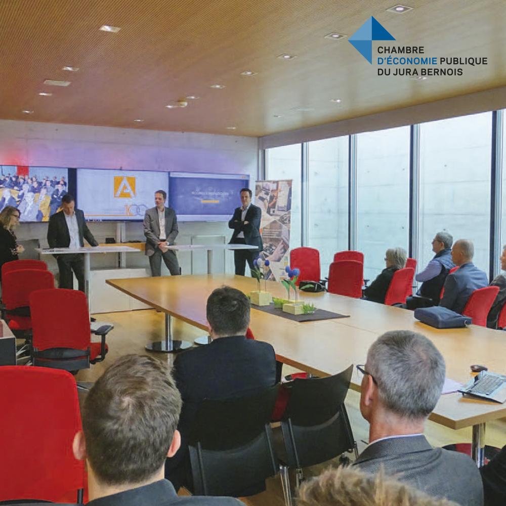 Le Club-Entreprises de la Chambre d'économie publique du Jura Bernois (CEP) était convié pour une rencontre intimiste avec le comité de direction du Groupe Affolter.