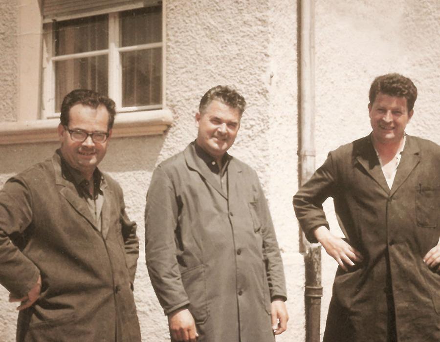 2ème Génération Affolter, René Affolter, André Affolter, et Marc Affolter