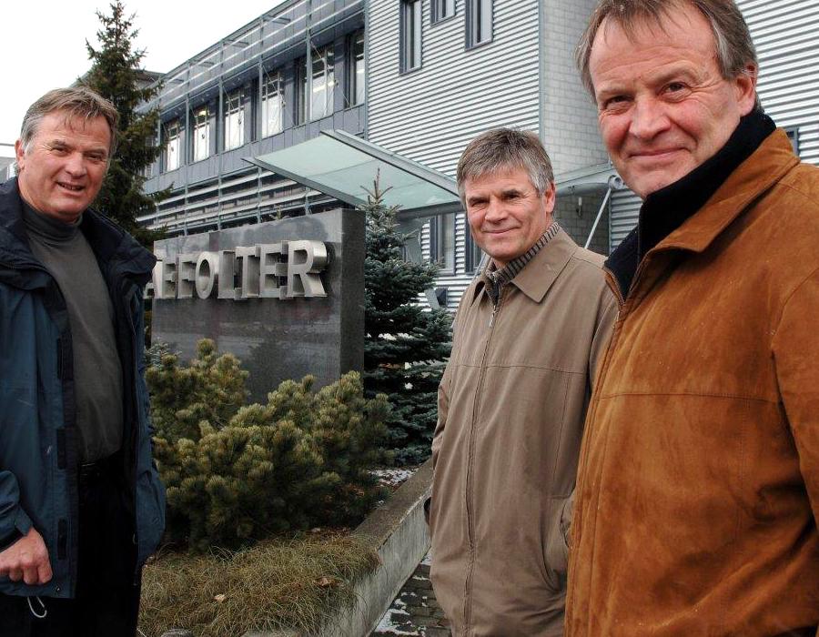 3ème génération Jean-Claude Affolter, Michel Affolter et Marc-Alain Affolter