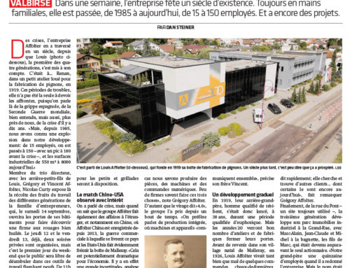 Article de presse Journal du Jura06 septembre 2019