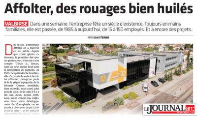 Affolter, des rouages bien huilés - Journal du Jura - 06.09.2019