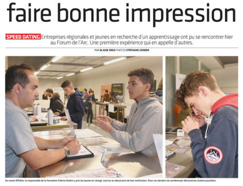 Articles de presse « Speed dating »22.09.2019