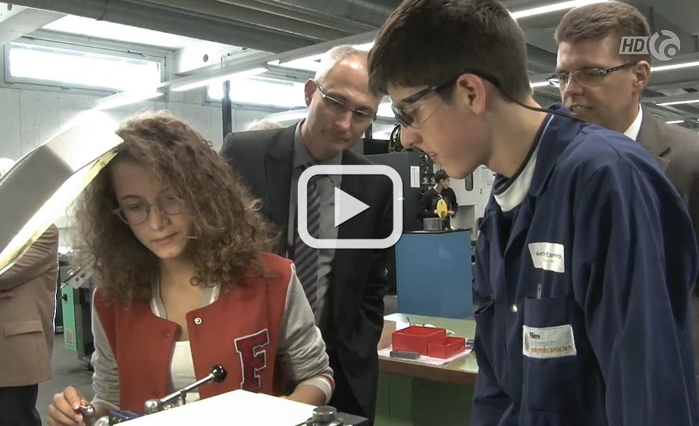 Berne veut promouvoir les métiers techniques - Reportage télévision Canal Alpha | 29.03.2013