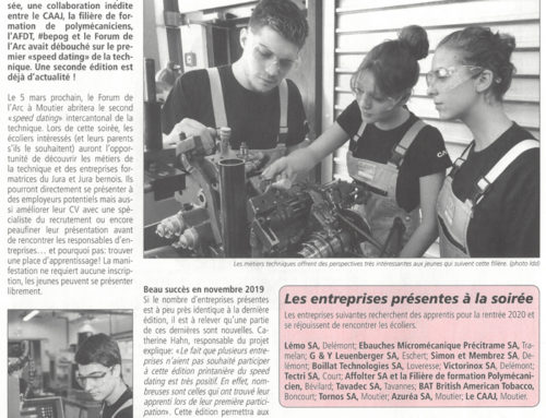 Article de presse« Speed dating » 04.03.2020