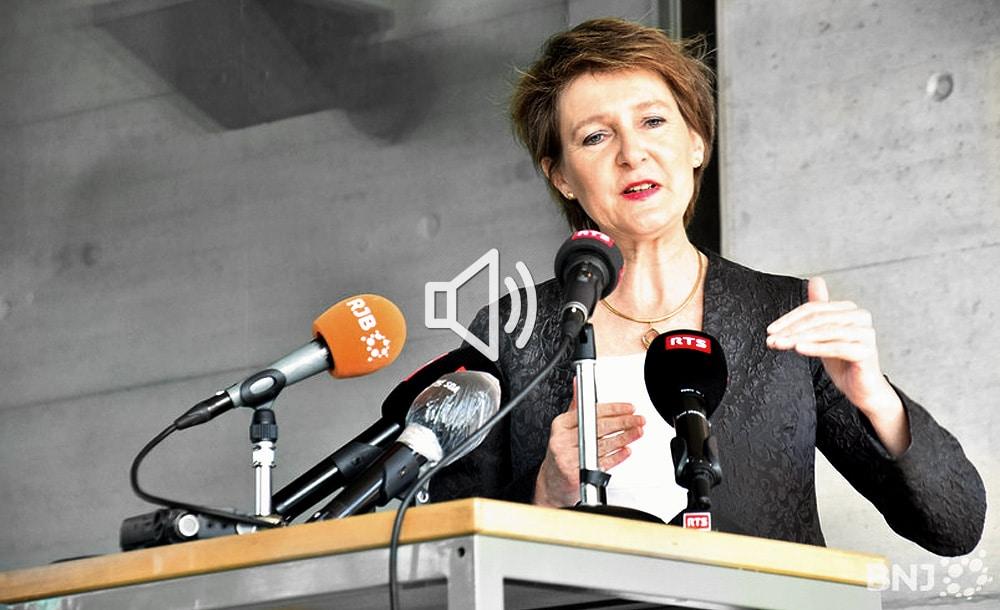 Mme Simonetta Sommaruga en visite dans les entreprises du Jura bernois | Radio RJB