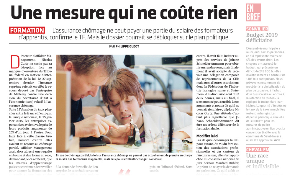 Apprentissage et chomage partiel